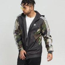Adidas Originals Camo Windbreaker černá   camo zelená afe7ecc83c2
