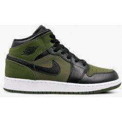 Dětská bota Nike Air Jordan 1 Mid Olive ab4a90f4cc8