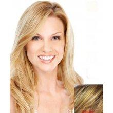 Paruka z pravých vlasů, černá, Blond melír
