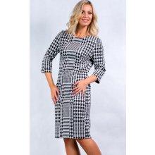 ccfb25eabc5a Color collection Dámské černo šaty s 3 4 rukávem bílá