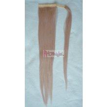 HOTstyle Clip in culík rovný 100% japonský kanekalon - stříbřitá blond