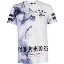 Fabric Sublimation T Shirt Mens Smoke White