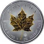 Maple Leaf Stříbrná mince pozlacený 1 Oz 2012 Standard