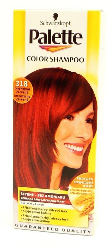 Schwarzkopf Palette Color Shampoo Intenzivní červený 318