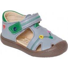 RAK Chlapecké kožené sandály Richard šedé