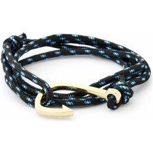 Trendhim Černo-zlatý náramek Rybářský háček XH-FHG2-005