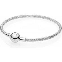 Pandora pevný stříbrný náramek 596543 b40c46028fc