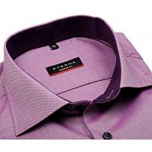 Eterna Modern Fit Natté - fialová košile s bílým rastrováním a vnitřním  límcem a manžetou 9470416e43