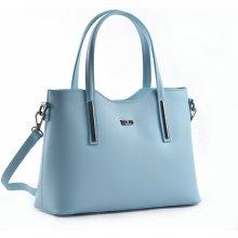 Bright kabelka kožená hladká malá do ruky limetková sv. modrá ca01b48d655