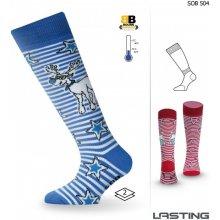 Lasting Dětské lyžařské ponožky SOB 504 modrá 78b81333e3