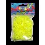 RAINBOW LOOM Original gumičky 300 kusov neónová žltá