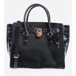 Luxusní kožená kabelka Michael Kors large hamilton traveler černá