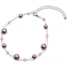 Náramek s perlami Sunny Pearl Mauve GM Collection 421202