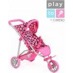 PlayTo Sportovní kočárek pro panenky Olivie růžový