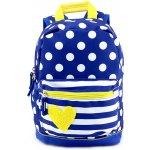 Target batoh Žluté Srdce modrý/bílý