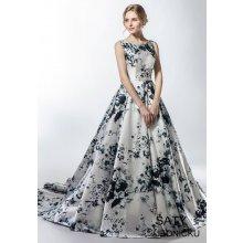 8de57f081bb Helen Fontaine luxusní saténové šaty s květinovým potiskem HFW2749