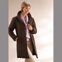 Elegantní kabát čokoládová