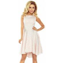 ee2d240a0900 Společenské dámské šaty s asymetrickou sukní a kolečky pastelově růžová