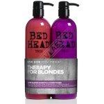 Tigi Bed Head Dumb Blonde šampon 750 ml + Blonde Reconstructor šampon a kondicioner pro poškozené blond vlasy 750 ml dárková sada