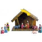 Small foot by Legler Dřevěné hračky - Dřevěný betlém s figurkami