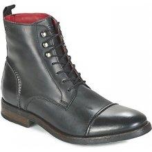 Base London Kotníkové boty CLAPHAM Černé