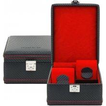 Friedrich Lederwaren luxusní kazeta na hodinky Carbon 32049-2 černá 351ef53d40