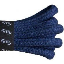 Kulaté modré tenké bavlněné tkaničky 80 cm