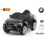 Beneo elektrické autíčko BMW X6M jednomístné černé lakované Eva kola kožené sedadlo 12V 24 GHz Do 2x motor USB SD karta original licence