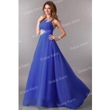 Grace Karin plesové šaty s vlečkou CL2949-5 modrá e126cc8710