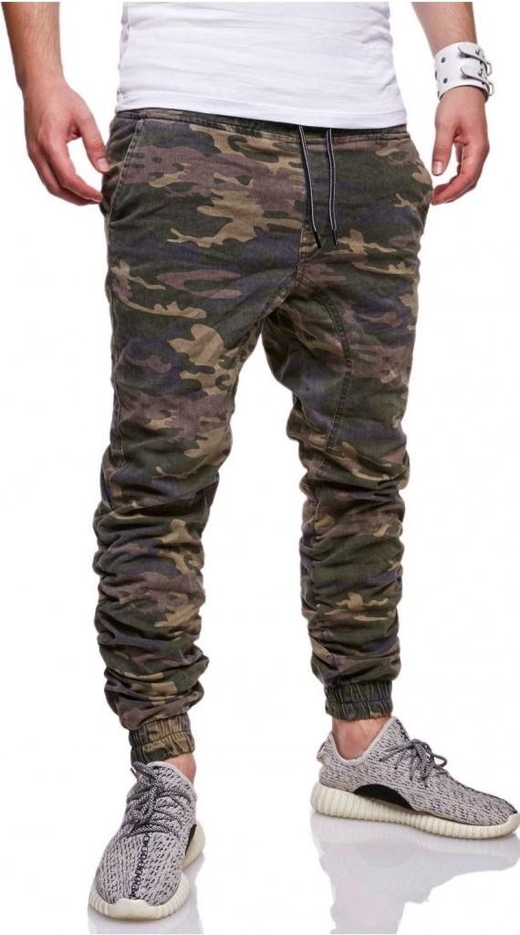 pánské maskáčové džíny Chino-Jogger Camouflage RJ-1035 od 599 Kč -  Heureka.cz d4eaae6885