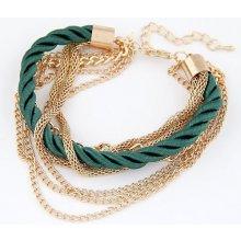 Náramek Bagisimo zeleno zlatý 182330996