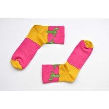 More Fashion dámské ponožky west růžová
