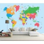 Coloriqa fototapeta Mapa světa 3537 Materiál: Samolepící tapeta, Rozměr: 152,5 x 104 cm M
