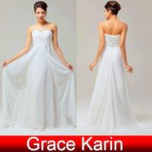 Grace Karin Svatební šaty dlouhé bílá 996041