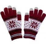 Nordic rukavice na dotykový displej red