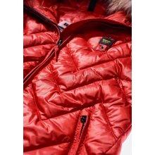 Blauer dámská bunda červená