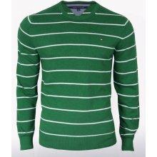 Pánský zelený svetr Tommy Hilfiger - Zelená