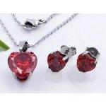 02845f528 Zyta dámský set chirurgická ocel náhrdelník a náušnice srdce 20737