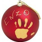 BABY ART Vánoční koule s otiskem Christmas Ball červená