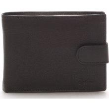 Kožená peněženka černá Delami 8693 černá