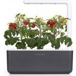 Click and Grow Smart Garden 3 chytrý květináč + 3ks kapslí se semínky bazalky šedý