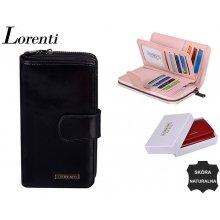Lorenti Dámská velká kožená peněženka černá 76116 BLACK
