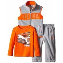 PUMA oblečení Microfleece Vest set With Long Sleeve šedá