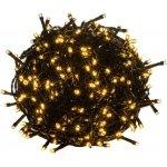 Goleto.cz Vánoční LED osvětlení 60 m, teplá bílá 600 LED - zelený kabel
