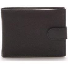 Delami Peněženky Kožená peněženka černá 8693 Černá