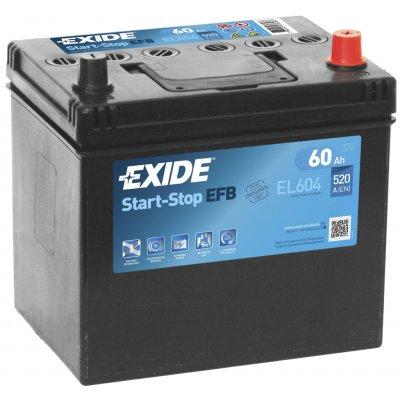 Exide Start-Stop EFB 12V 60Ah 520A EL604
