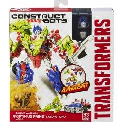 Hasbro Transformers 4 Construct Bots Transformer se zvířetem Optimus Prime a Gnaw Dino Heureka.cz