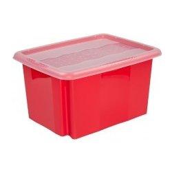 c08f310e7 Plastový svět Colours Plastový box červený s víkem 15 l 38 x 28,5 x ...