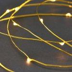Světelný řetěz 10 m - zlatý