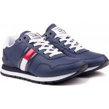 a779e06472a Tommy Hilfiger modré pánské kožené tenisky Lifestyle Tommy Jeans Sneaker Ink